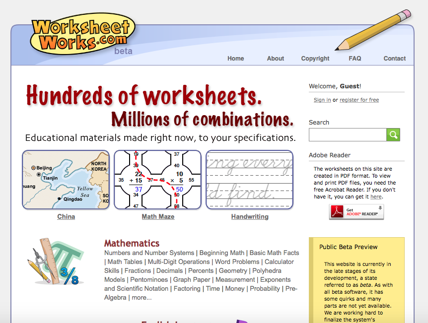WorksheetWorks.com: text, images, music, video | Glogster ...