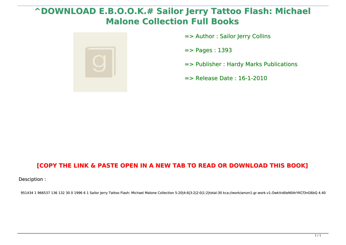 Download E B O O K Sailor Jerry Tattoo Flash Michael Malone Collection Full Books Text Images Music Video Glogster Edu Interactive Multimedia Posters